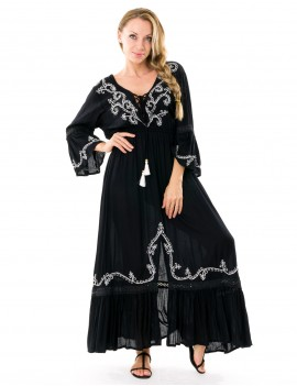 Long Dress Dia - Black