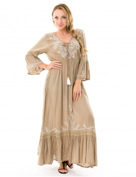 Long Dress Dia - Taupe