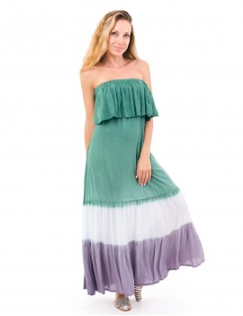 Axenia Dress - Gradasi Green Kakiw&Taupe
