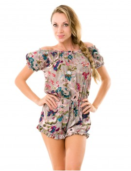 Oxo Playsuit - Japonese Floral