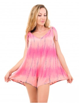 Sanur Playsuit - Abstrack Pink-Peach-Grey