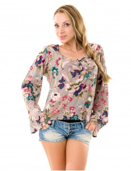 Sherley Top - Japonese Floral