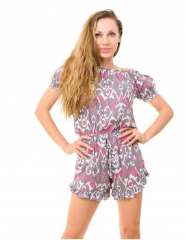Oxo Playsuit - Timor Flamingo