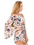 Valencia Playsuit - Japonese Floral White