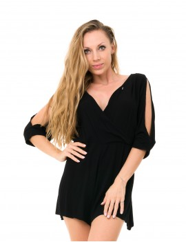 Dewi Playsuit - Black