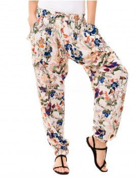 Zaria Pant - Japonese Floral White