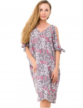 Lunea Dress - Timor Flamingo