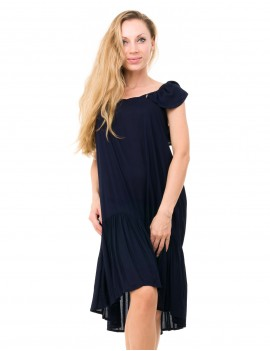 Fabienne Dress - Navy Blue