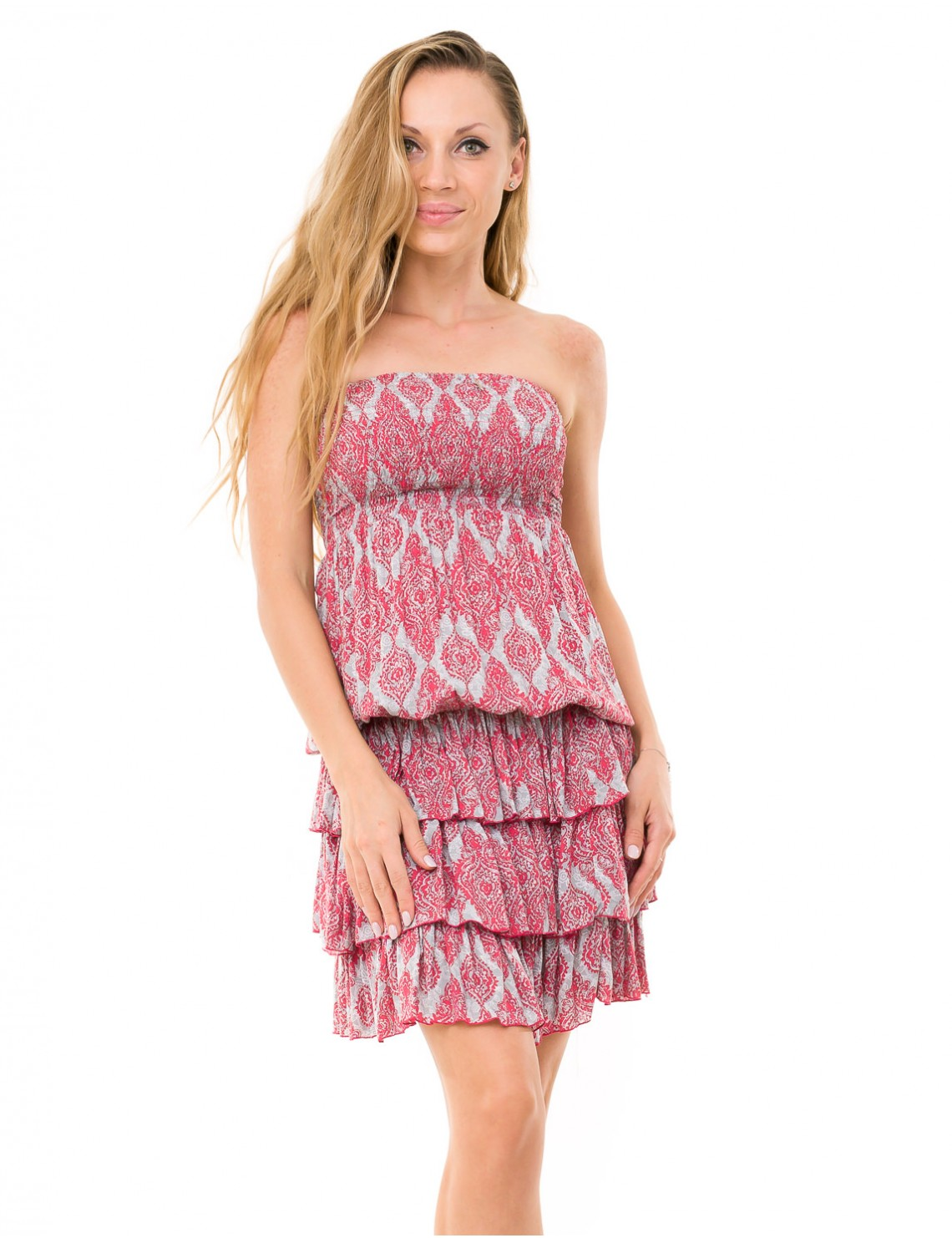 Mia Dress - Jaspal Watermelon