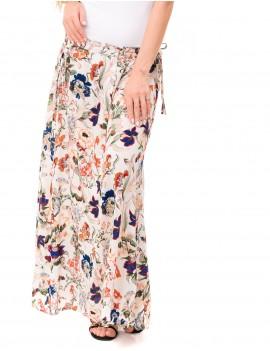 Falda Skirt - Japonese Floral White