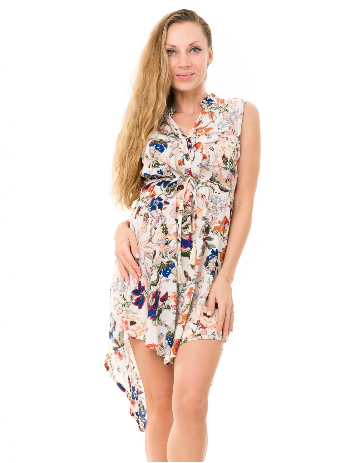 Awana Cover Up - Japonese Floral White