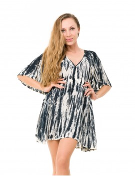 Evelyna Cover Up - Td Cream Zebra & Black