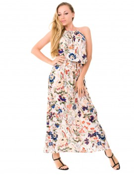 Kaya Dress - Japonese Floral White