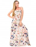 Amandine Dress - Japonese Floral White