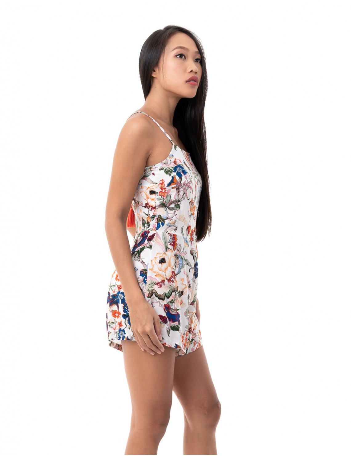 Playsuit Agata - Japonese Floral White