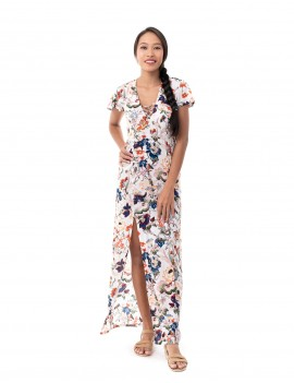 Dress Santiago - Japonese Floral White