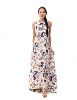 Dress California - Japonese Floral White