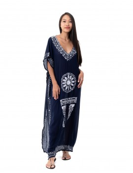 Dress Santa Maria - Blue And White