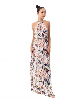 Dress Coralie - Japonese Floral White