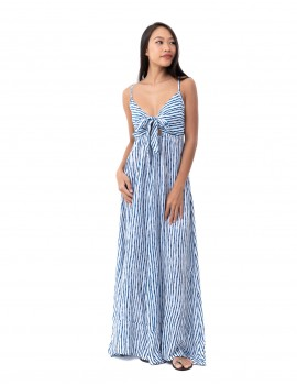 Long Dress Ines - Bamboo Blue