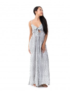 Long Dress Ines - Bamboo Olivine
