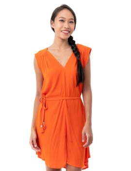 Dress Chandra - Orange Flambloyant