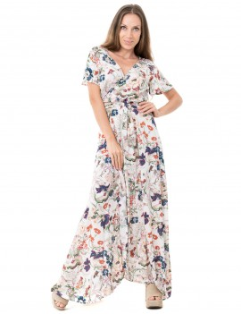 Dress Fiona - Japonese Floral White