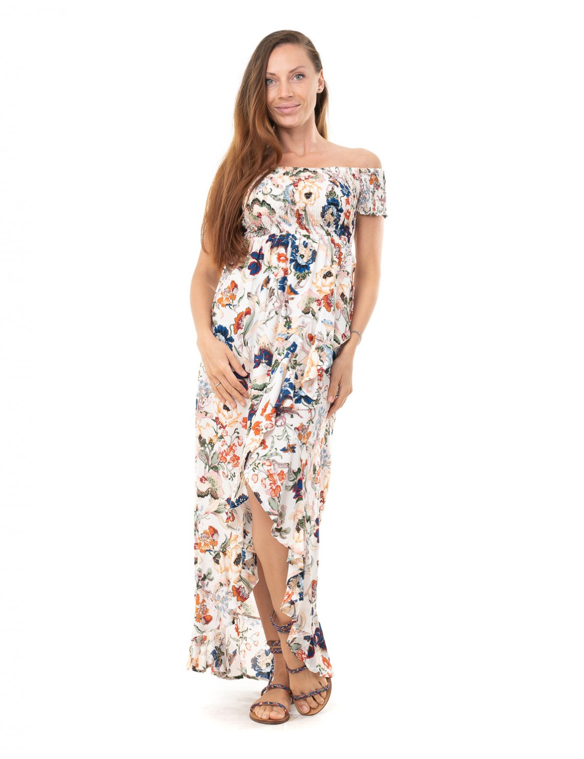 Dress Maria - Japonese Floral White