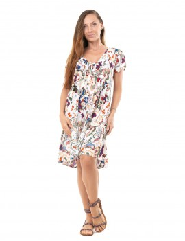 Dress Anne - Japonese Floral White
