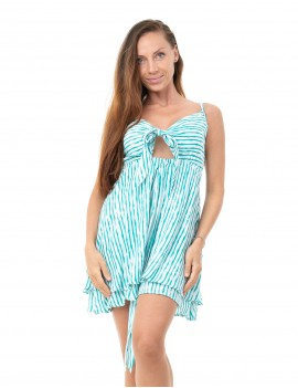Short Dress Ines - Bamboo Tile