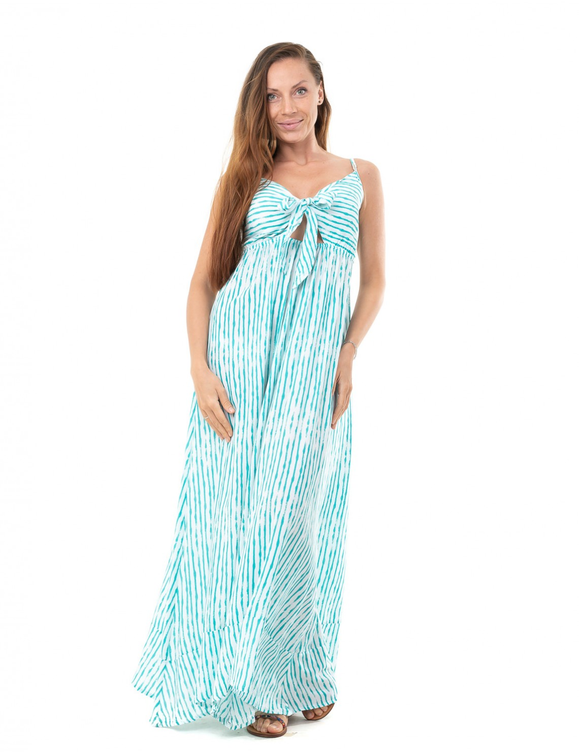 Long Dress Ines - Bamboo Tile