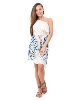 Dress Xabia - Td Sun Mood Indigo And Cream