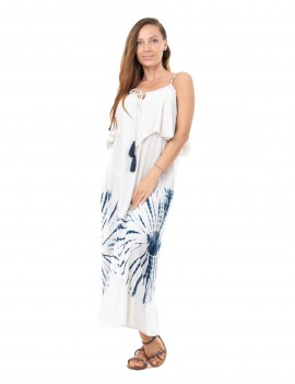 Dress Callelia - Td Sun Mood Indigo And Cream