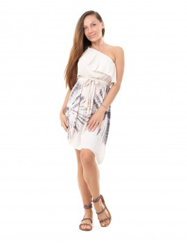 Dress Xabia - Td Sun Taupe And Cream