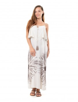 Dress Callelia - Td Sun Taupe And Cream