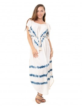Dress Isa - Td V Mood Indigo And Cream