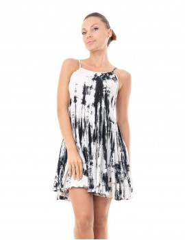 Dress Lucie - Td Zebra Black And Cream