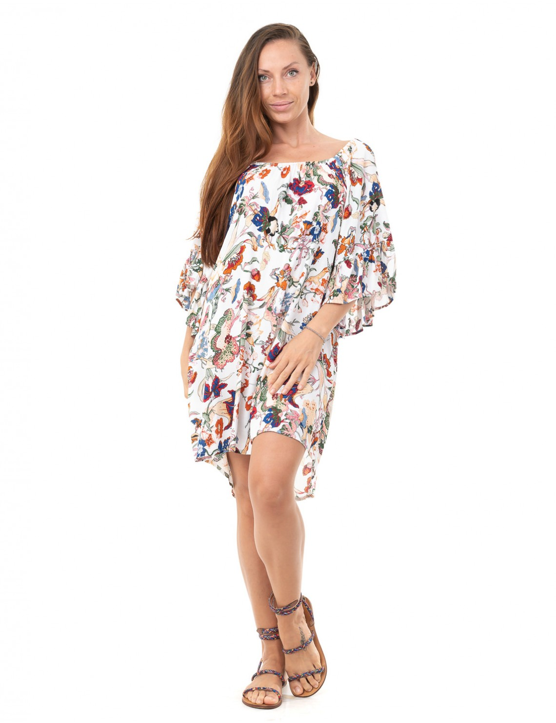 Cover Up Nae - Japonese Floral White