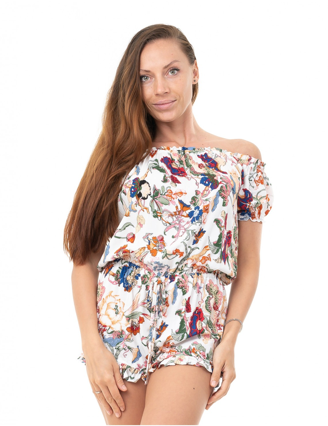 Playsuit Oxo - Japonese Floral White