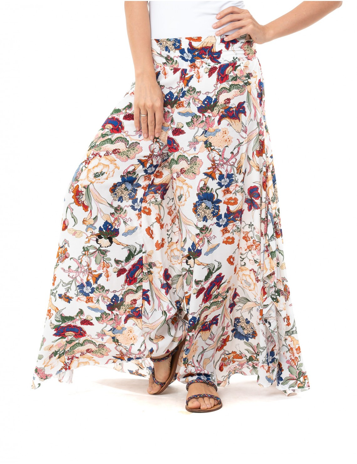 Pant Gili - Japonese Floral White