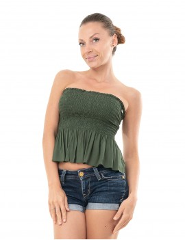 Top Shirred Ruffle - Vertiver