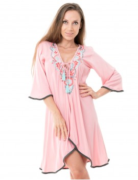 Anouk Dress - Dusty Pink
