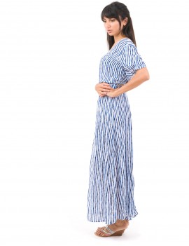 Oceana Dress - Bamboo Blue