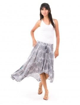 Love Skirt - Brokat Grey Bordel