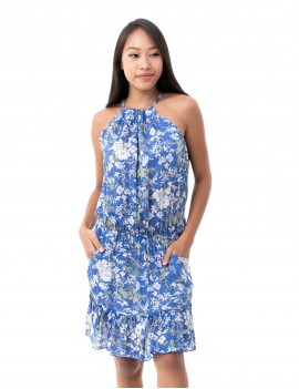 Kenji Dress - Spring Flower Blue