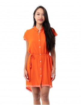 Riviera Dress - Orange Flambloyant