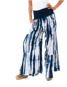 Laura Pant - Zebra Blue & White