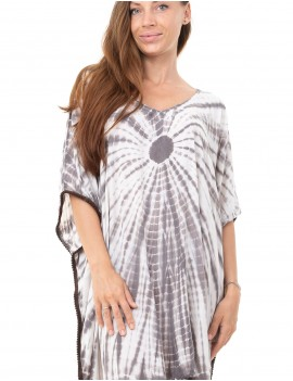 Adina Cover Up - Td Square Taupe And Cream