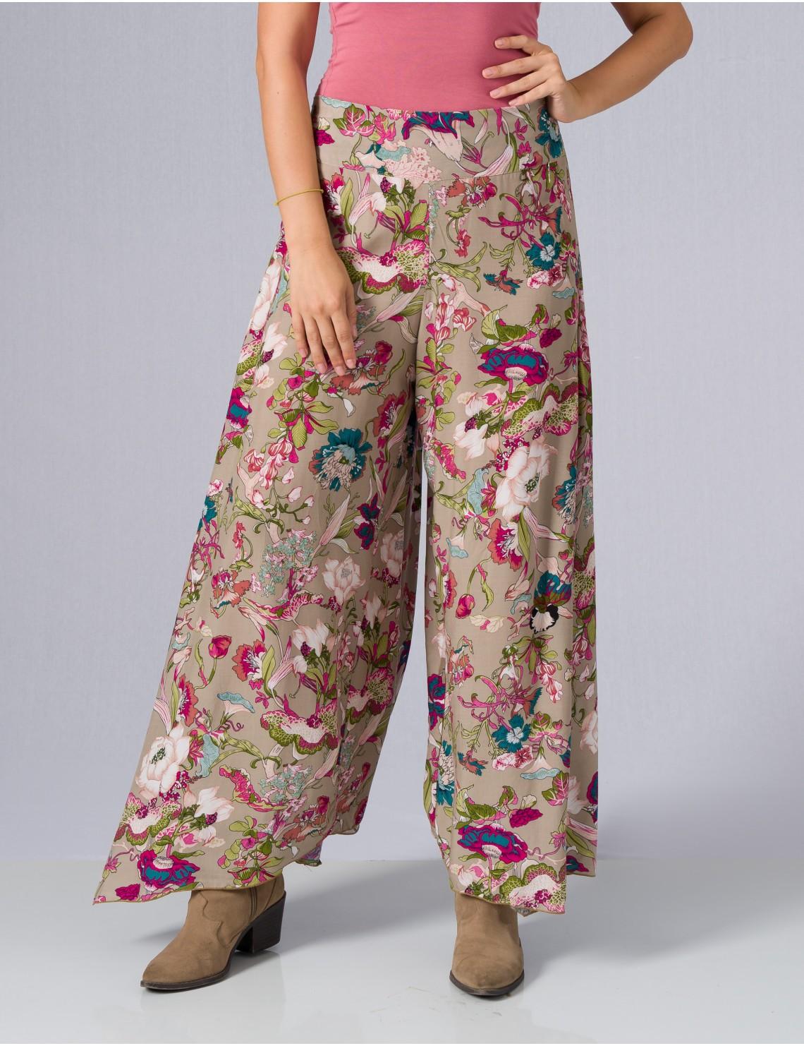 Gili Pant - Japonese Floral Grey