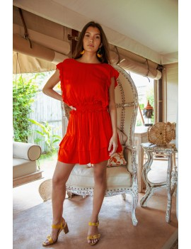 Azalee Dress - Orange Flamboyant